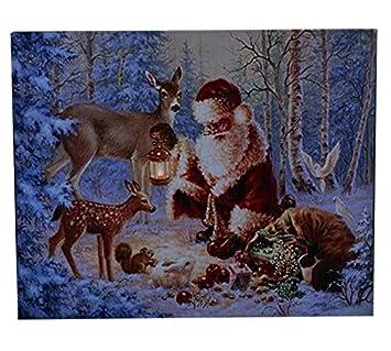 Weihnachtsbilder New York.Weihnachtsbild Mit Beleuchtung Led Canvas Bild 40cmx50cm