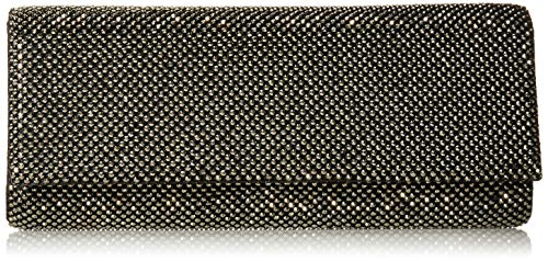 Jessica McClintock BRE Sparkle Mesh Evening Clutch, Pewter (Mesh Sequin Clutch)