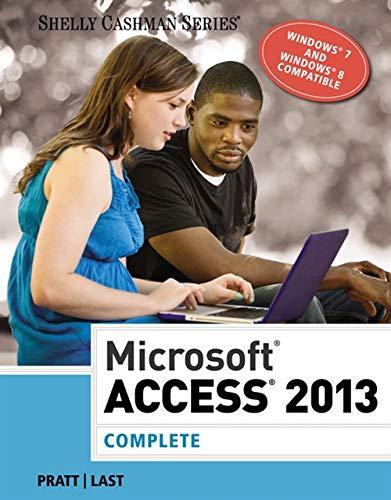 [E.B.O.O.K] Microsoft Access 2013: Complete (Shelly Cashman Series) WORD