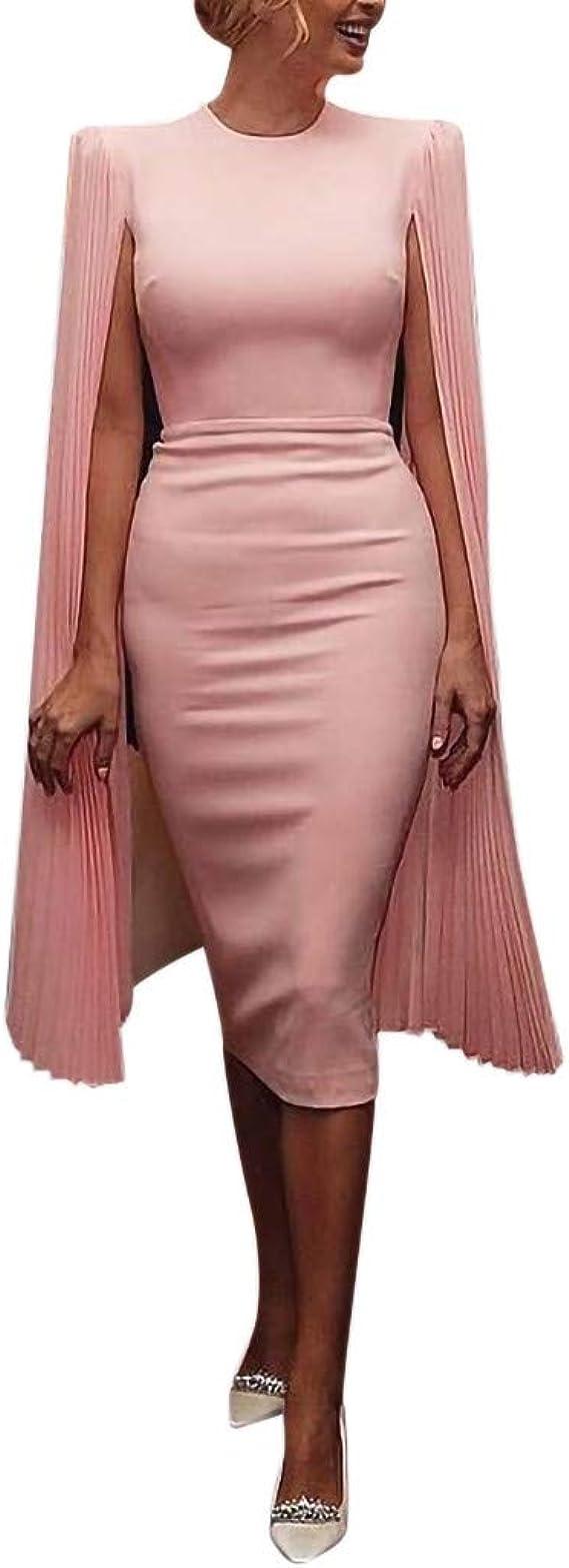 MAYOGO Festliche Kleider Abschlussball Kleider Damen Lang Rosa