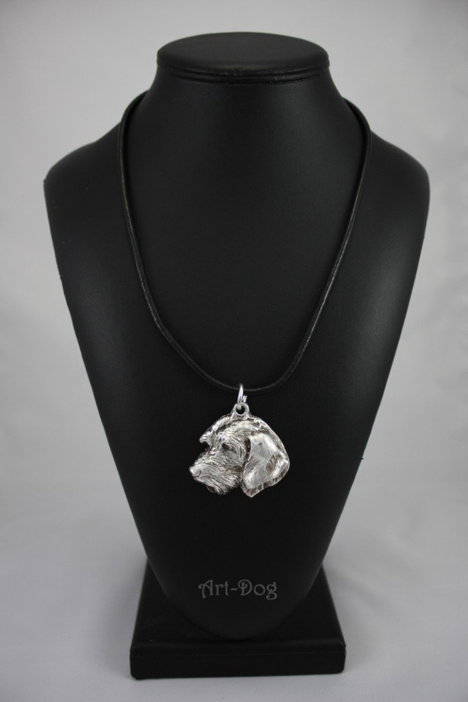 Teckel (Face Coat), Dachshund Wirehaired, Silver Hallmark 925, Dog Silver Necklaces, Limited Edition, Artdog
