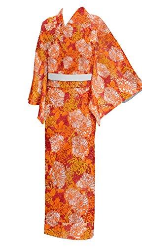 1a2029aa9e japan Kimono Robe Yukata Cotton Women size L Red Japan ...