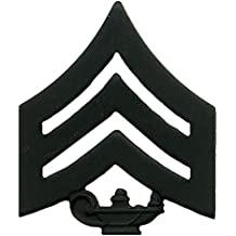 Marine Corps JROTC Enlisted Subdued (Black) Metal Insignia Rank
