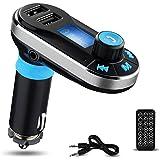 Trasmettitore FM Bluetooth da Auto, YOKKAO Lettore MP3 da Auto Bluetooth Supporta Chiamata Vivavoce/ SD/ U Disco/ AUX/ FM Con Dual Porte USB (Argento)