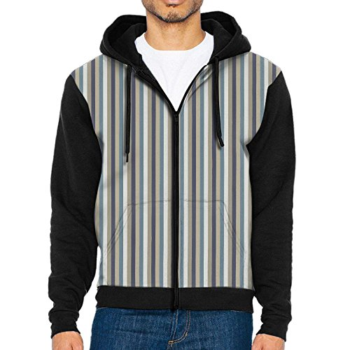 Hut Stripe Leisure Wen's Zipper Hoodie Sweatshirt Big Kangaroo Pocket Loose Zipper - Leisure Hut