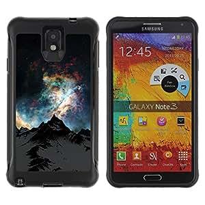 Pulsar Defender Series Tpu silicona Carcasa Funda Case para SAMSUNG Galaxy Note 3 III / N9000 / N9005 , Nature Beautiful Forrest Green 172