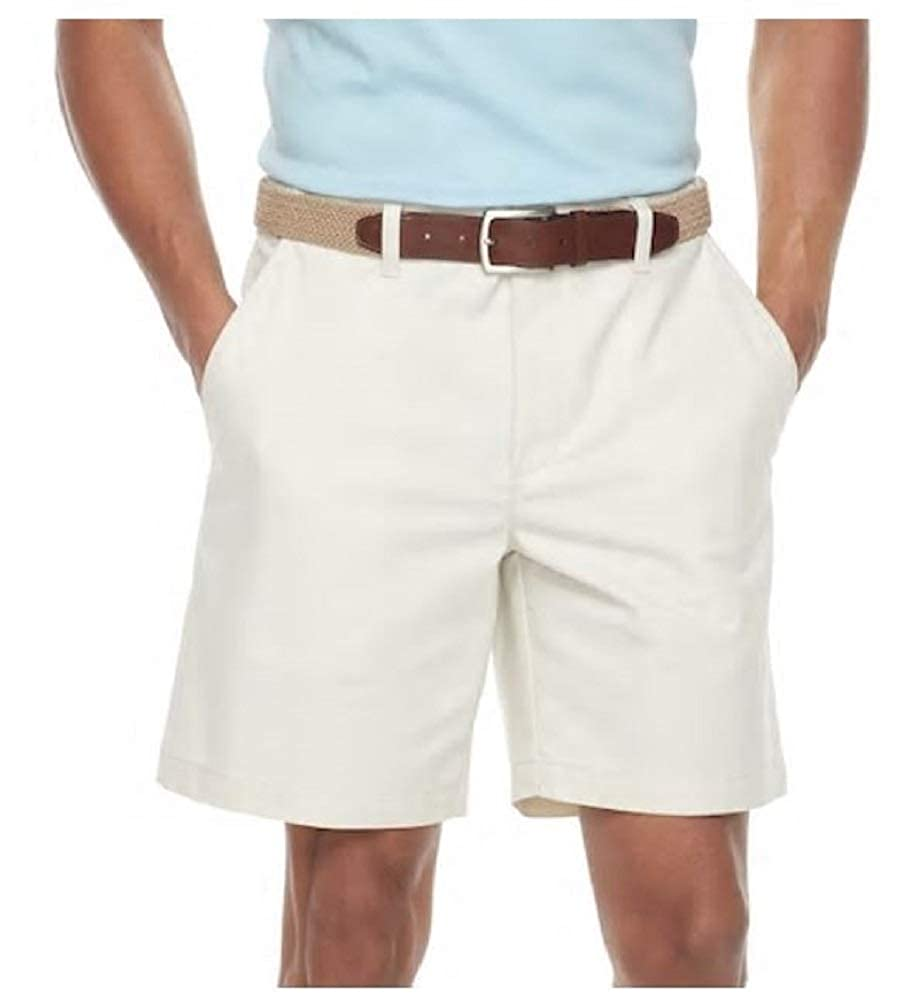 Mens Classic Fit Easy Care Stretch Flex Waist Flat Front Shorts