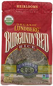 Lundberg Family Farms Organic Rice, Burgundy Red, 16 Ounce (Pack of 6)