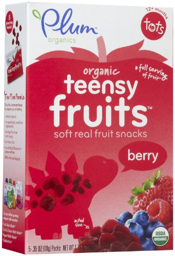 Plum Organics Tots Teensy Fruits-Berry-1.75 Ounces-8 Pack
