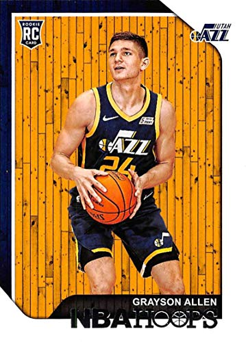 2018-19 NBA Hoops Basketball #247 Grayson Allen Utah Jazz RC Rookie Card made by Panini