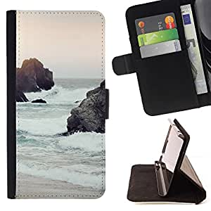 Momo Phone Case / Flip Funda de Cuero Case Cover - Vagues de sable Ciel Nature Sun - Motorola Moto E ( 1st Generation )
