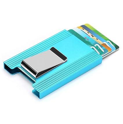Tarjeta de Aluminio Titular RFID Tarjeta Caso con Fuerte ...