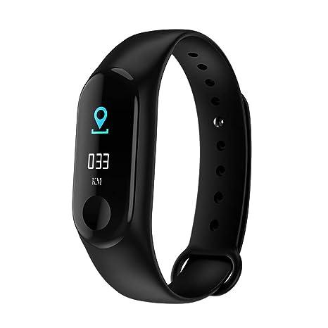 Relojes pulsera inteligente, Deporte de la presión Art š Š rielle fr š Š Quence cardiaco reloj inteligente pulsera de fitness Tracker: Amazon.es: Coche y ...