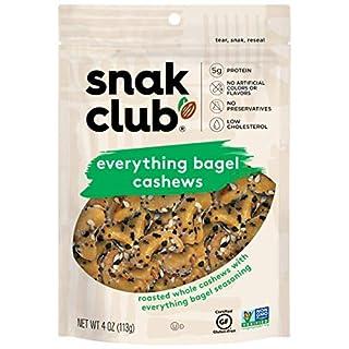 Snak Club Everything Bagel Cashews, 6 Pack 4 Oz Bags……