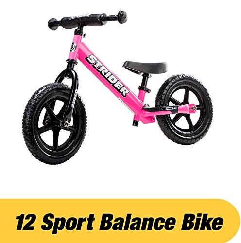 Strider - 12 Sport Balance Bike, Ages 18 Months to 5 Years, Pink