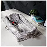 Baby Portable Travel Bed Side Sleeper for 0-24 Months Newborn Baby (Grey)