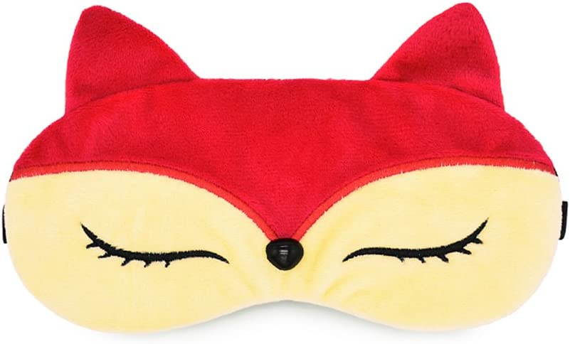 Zabrina FUUNY Creative Animated Cartoon 3D Cat Eyes Meow Sleep Mask Ice Pack Patch for Hot & Cold Therapy Light Shading Cover (Fox)