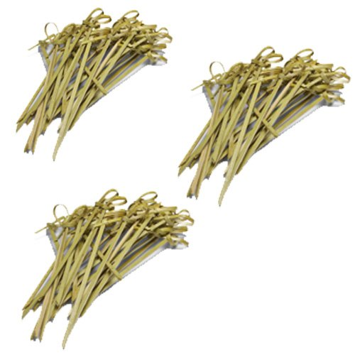 Ezee Bamboo Knot Skewers Sticks - 5 Inches (300 Pieces)