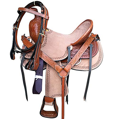Great American M2-10 Leather Youth Child Horse Saddle Western Roping Trail
