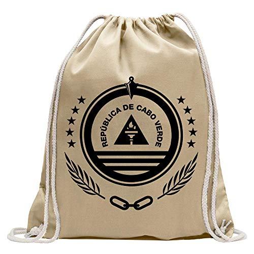 Cape Verde coat of arms bagpack printed Design Print Gift Idea ()
