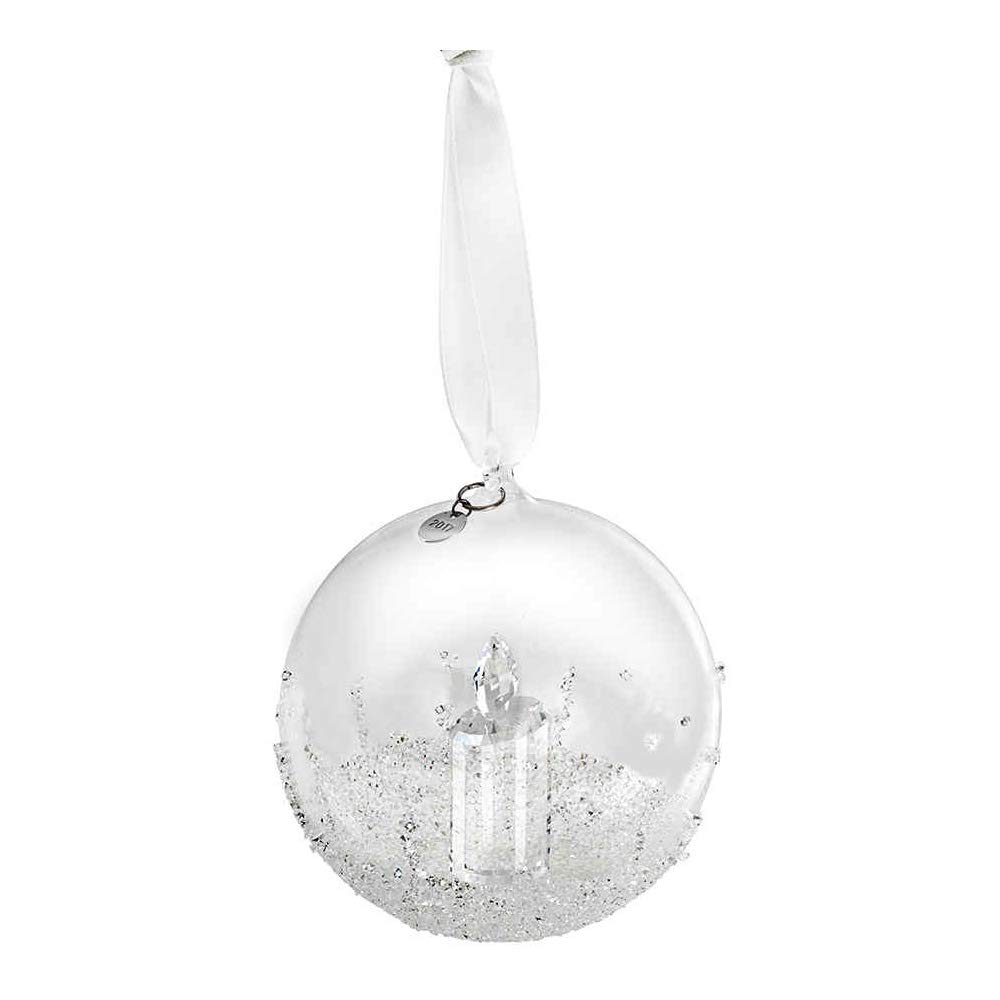 Swarovski Weihnachtskugel, Jahresausgabe 2017 Figur, Kristall, Transparent, 8 8 8 x 8 x 10 cm 9e1554