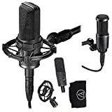 Audio Technica AT4050 Multi-Pattern Condenser Microphone Ideal for Studio Use and Live Sound Productions and Audio Technica AT2020 cardioid condenser microphone system