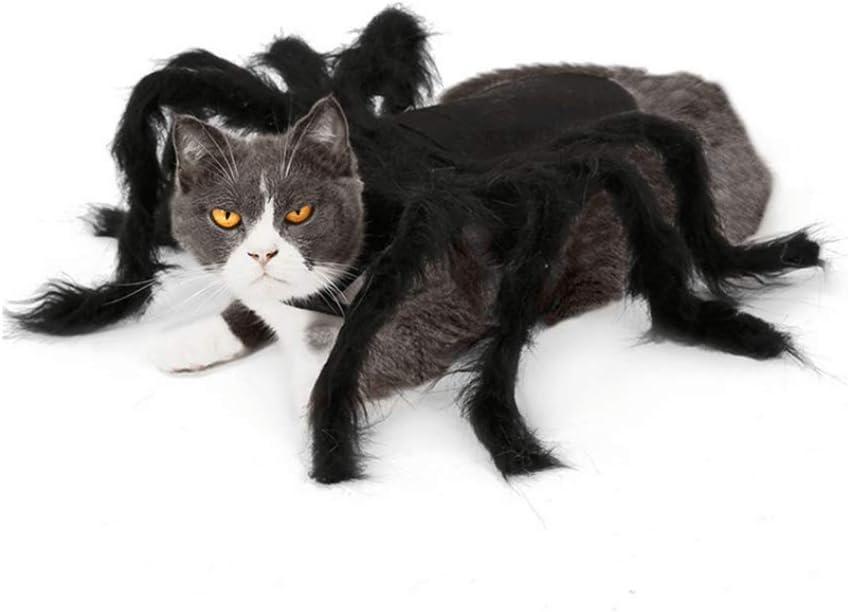 Disfraz de araña gigante de simulación para perros y gatos, para Halloween, disfraz de araña grande, disfraz de araña para gatos, accesorios para disfraz de araña para mascotas