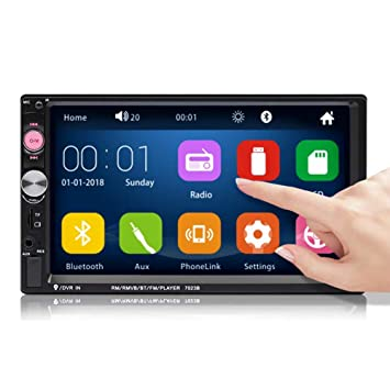 """Bluetooth Car Stereo Radio 2 DIN 7/"""" HD MP5 FM Player Touch Screen Rear Camera US"""