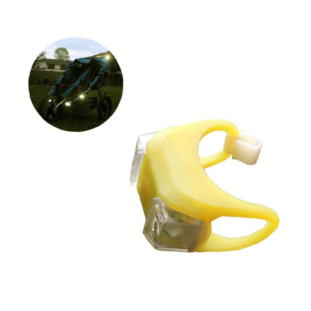 YZLSM 1pc Led Flash Notte Remind luci per il bambino Carrozzine Passeggino esterna impermeabile Forma Avviso di protezione