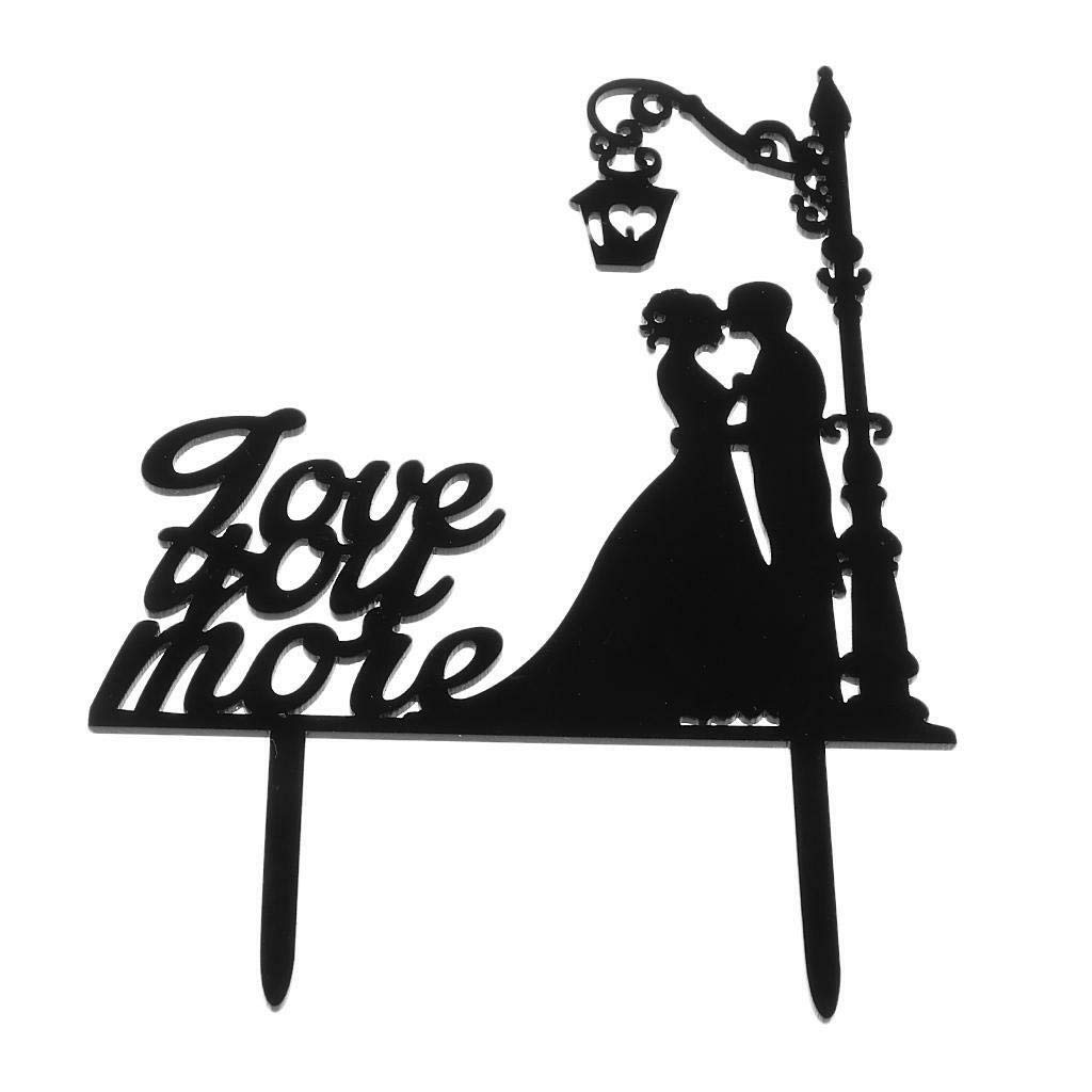 MR /& MRS WEDDING CAKE TOPPER-AND-LARGE BLACK ACRYLIC SIGN-DECORATION SILHOUETTE