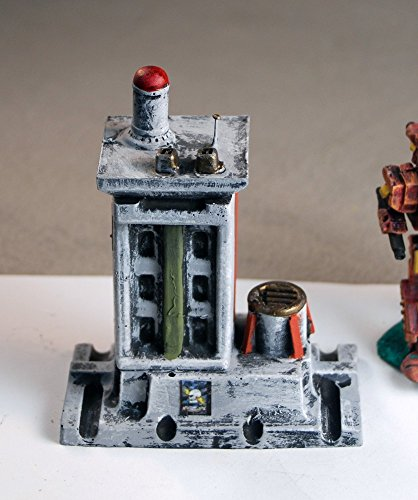 Painted Miniature building built as terrain scenery for epic scale wargames (such as Space Marine, Titanicus, and Battletech)
