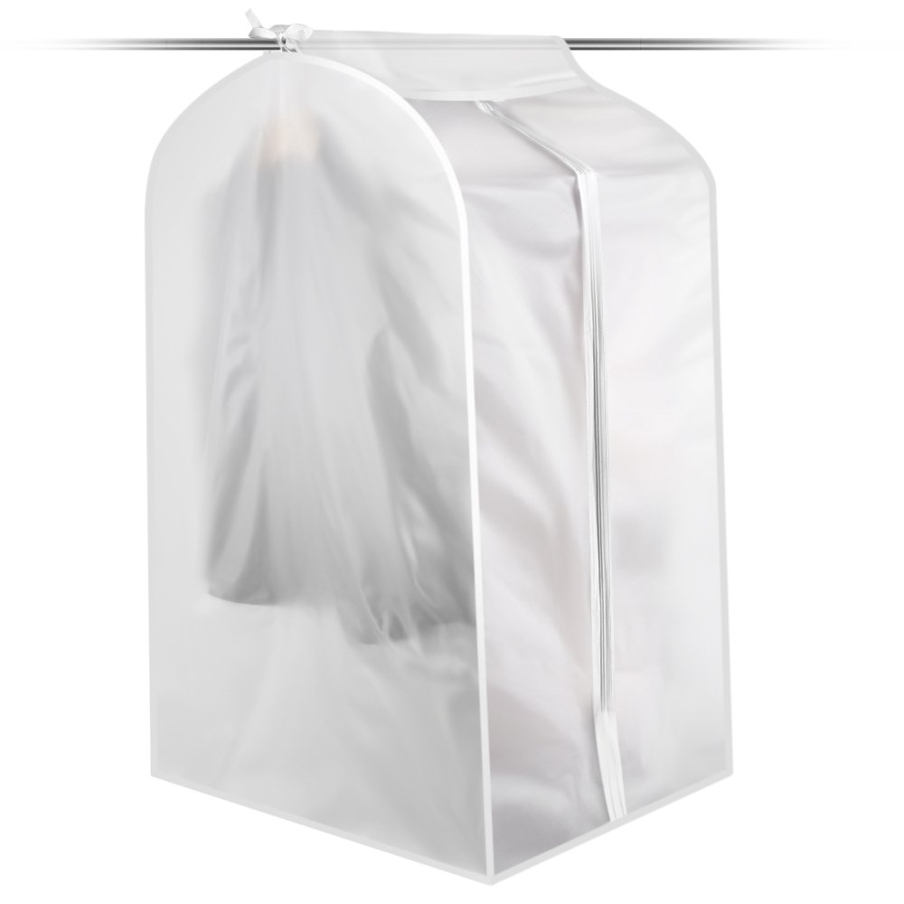 Perfectii Garment Bag, 1 Pack Suit Bag Moth Proof Cloth Garment Rack Cover Breathable Dust Cover For Suit Dance Clothes Closet, 50x58x100cm