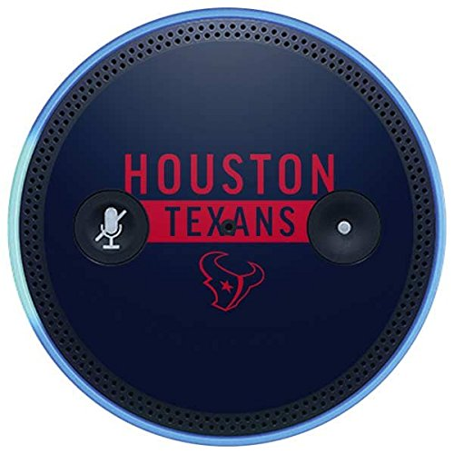 Skinit NFL Houston Texans Amazon Echo Plus Skin - Houston Texans Blue Performance Series Design - Ultra Thin, Lightweight Vinyl Decal Protection