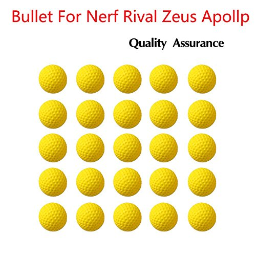 100pcs Rival Compatible Ammo Blasters refill replace round balls Foam Bullet pack for Nerf Rival Apollo, Zeus, Khaos, Atlas, Artemis + Bag by xiaoban (Image #5)