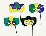 Feathered Masquerade Mardi Gras Mask | Costume Party Masks