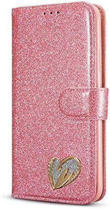 OMATENTI iPhone 11 Pro ケース, 高級感PUレザー 財布型カード収納 おしゃれ 手帳型ケース 衝撃吸収 落下防止 防塵 マグネット開閉式 プロテクター iPhone 11 Pro 対応, ピンク