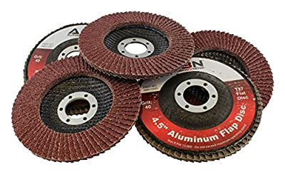 "ABN 4.5"" x 7/8"" T27 Flat Flap Disc Grinding and Sanding Wheels by Auto Body Now"