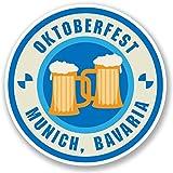 2 x 30cm/300mm Oktoberfest Munich Bavaria Vinyl SELF ADHESIVE STICKER Decal Laptop Travel Luggage Car iPad Sign Fun #4232