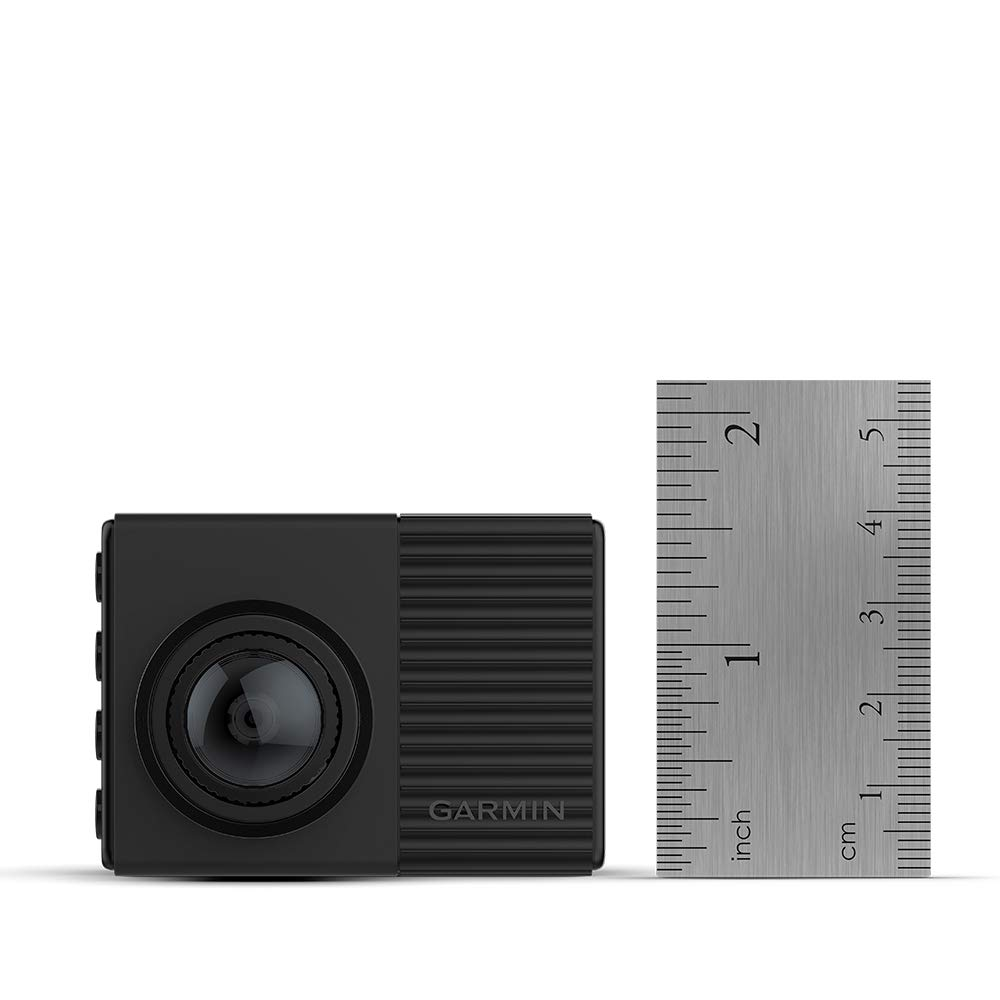 Garmin Dash Cam 66W, Extra-Wide 180-degree Field of View in 1440p HD, 2'' LCD Screen and Voice Control, Very Compact with Automatic Incident Detection and Recording by Garmin