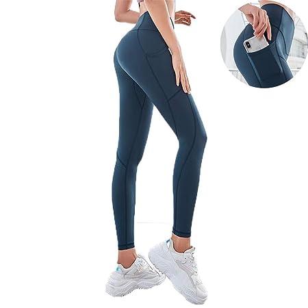 Mallas Pantalones Yoga Mujer Alta Cintura Elásticos Slim ...