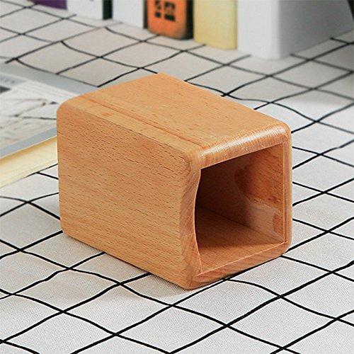 chytaii Vaso a matite portapenne Cestino portaoggetti Spazzole Pennelli di Trucco in legno Utensile di Cucina Ufficio multifunzione