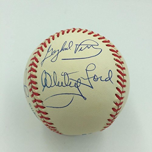 Whitey Ford Jim Bunning Hal Newhouser Bob Lemon Gaylord Perry Signed Baseball - Autographed Baseballs Gaylord Perry Autographed Baseball