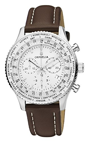 ORPHELIA Master Men's Brown Leather watch-OR81704