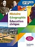 histoire geographie education civique 3e prepa pro livre eleve edition 2012