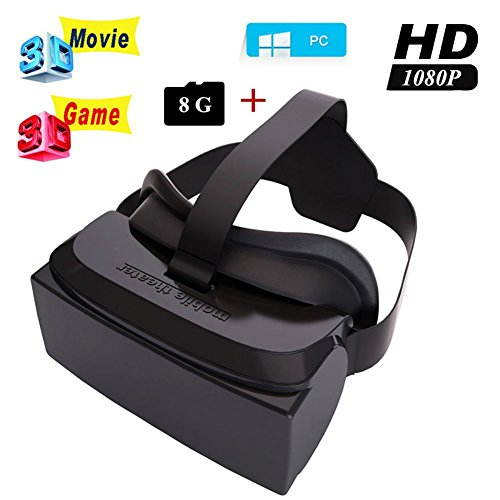 """Malvolts HMD-518 80"""" Wide Screen 1080P 3D Video Movie Game Glasses VR Virtual Reality Headset Private Mobile Cinema Personal Theater Game Movie All in One"""