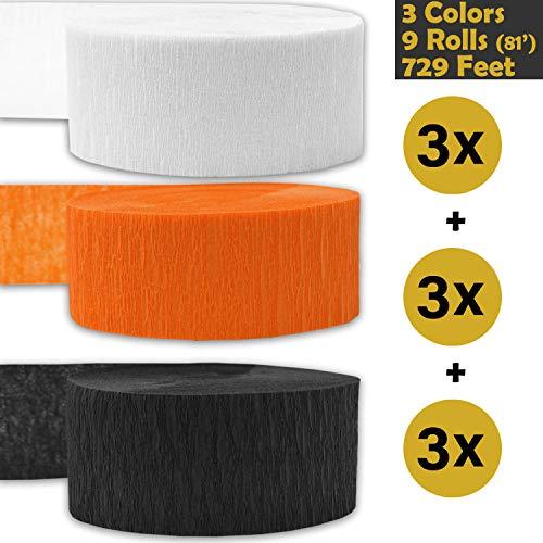 orange and black streamers - 5
