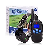 TrainPark Dog Training Shock Collar with Remote,Waterproof and rechargeable for Puppy, Small, Medium & Large Breeds,e-collar With 3 Features Beep, Vibration,Shock