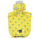 kyeese Dog Rain Poncho Waterproof Reflective Dog Raincoat with Hood for Small Dogs Lightweight Packable Dog Slicker Raincoats with Zip Pocket