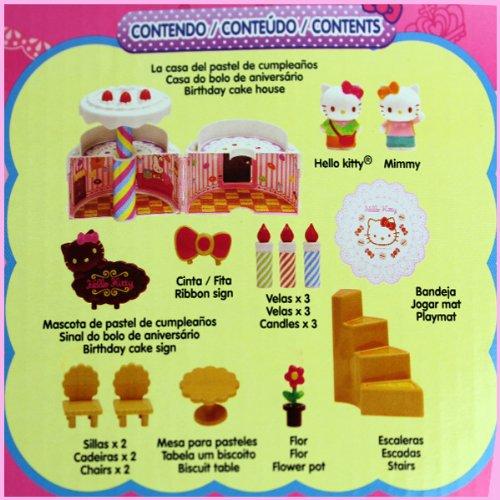Amazon.es: Janod Hello Kitty BJ290482 - Casa de muñecas con forma de pastel de cumpleaños, diseño de Hello Kitty: Juguetes y juegos
