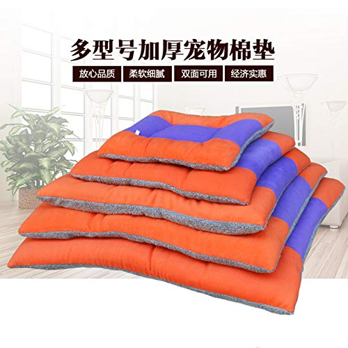 No. 2 cotton pad length 76 width 58cm Pet Bed Kennel Dogbed Cave Cashmere Mat Sleeping Cushion Cooling Washable Soft Available Warm Litter House Outdoor Hut Pads Cotton Large Thatched Shelter Crate Anti-Mold Supplies Medium Indoor Suprem